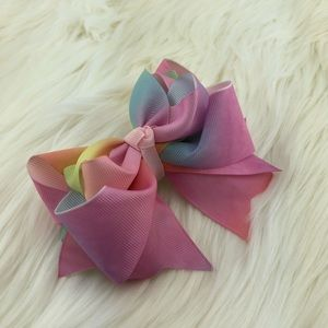 Accessories - Head bow ribbons pink, yellow, blue, handmade